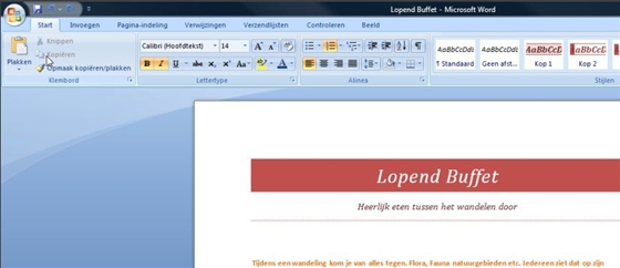 word - office 2007 - les 5 een voorblad voor uw word document
